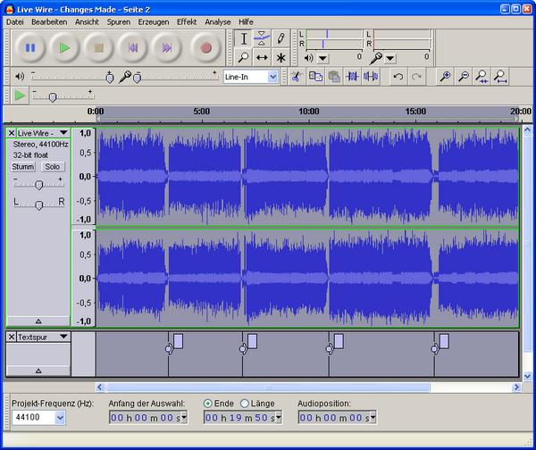 Schallplatten digitalisieren mit Audacity: WAV-Datei